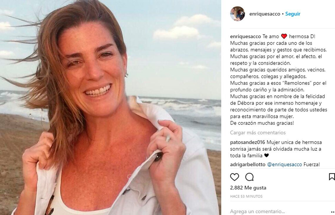 Débora Pérez Volpin: Quique Sacco agradeció el acompañamiento con un conmovedor mensaje