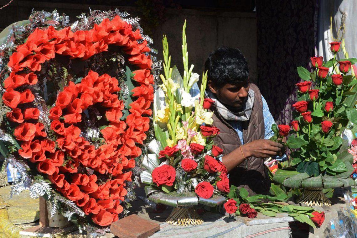 Un florista en Amritsar