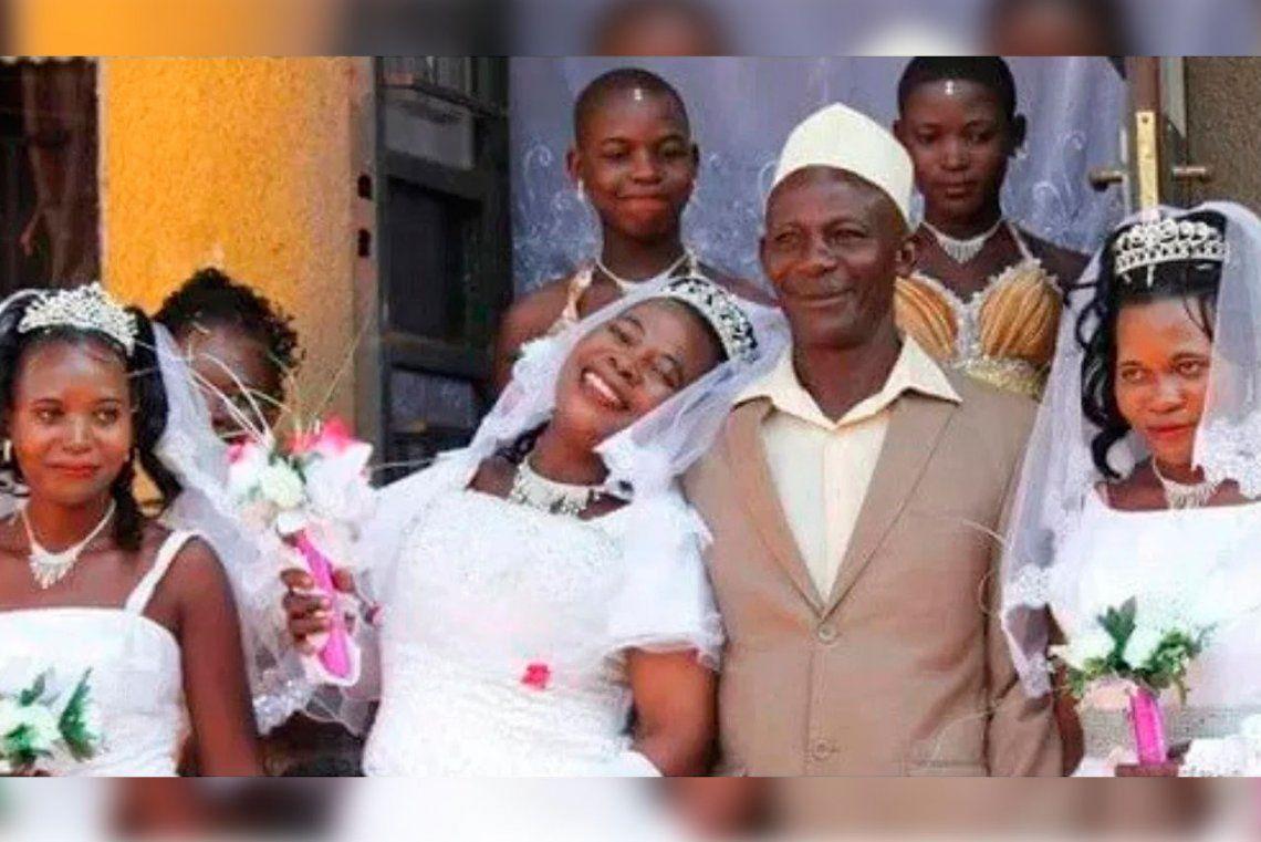 Se casó con tres mujeres el mismo día porque no podía pagar tres ceremonias