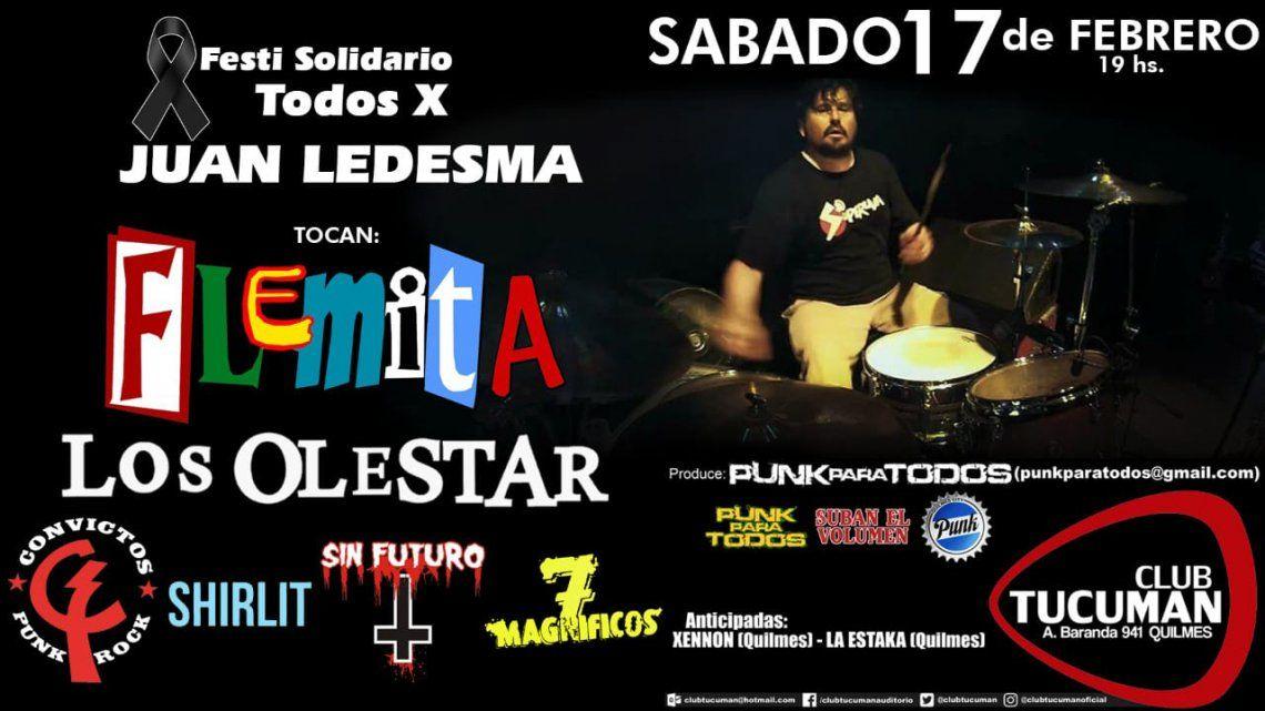 Realizan festival para juntar fondos para la familia del baterista asesinado
