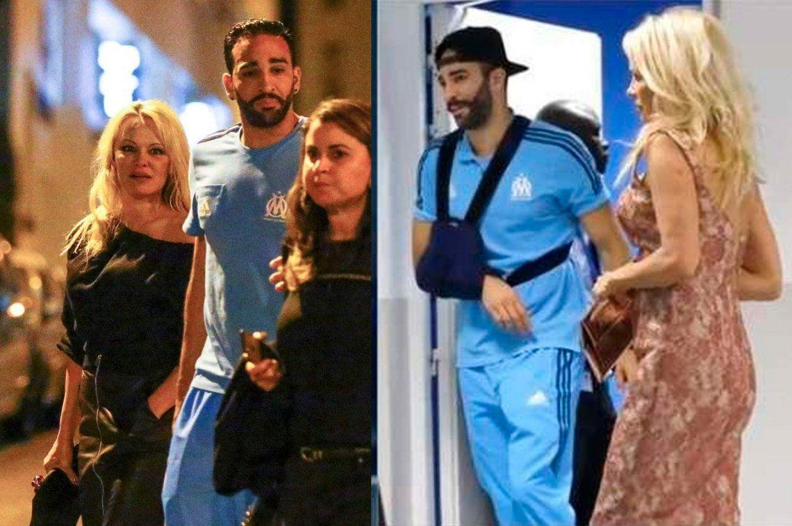 Pamela Anderson desmiente una supuesta separación de Adil Rami