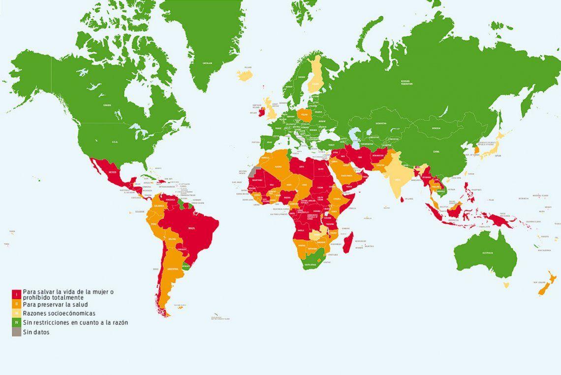 Qué países permiten o prohíben el aborto en su legislación