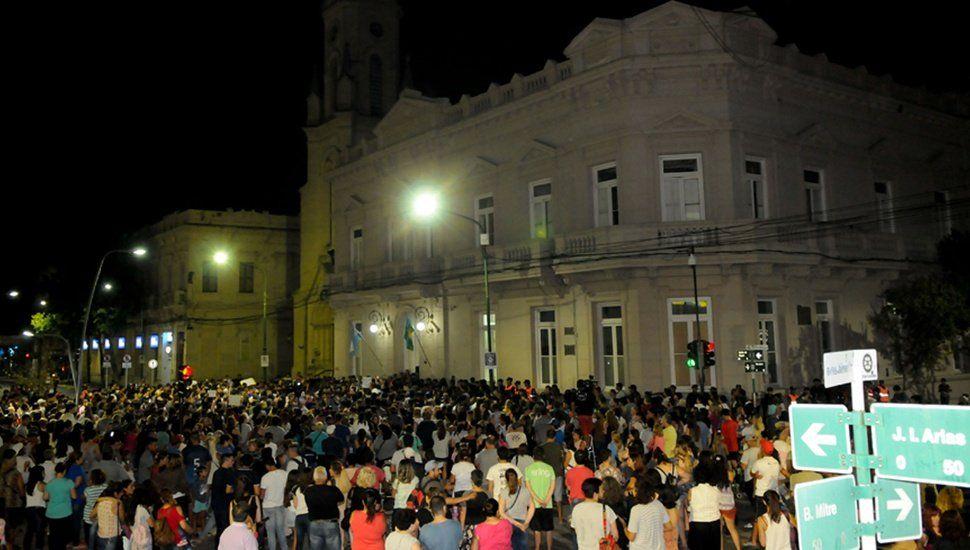 Masiva marcha en el centro de Junín por el crimen de Camila Borda
