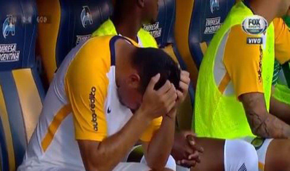 Insólito: Ortigoza se lesionó antes del inicio del partido y tuvo que salir