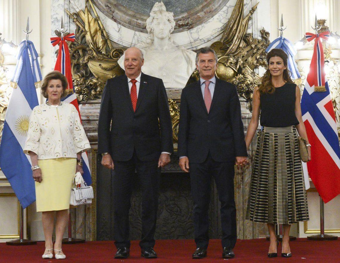 Macri recibió a los reyes de Noruega en la Casa Rosada