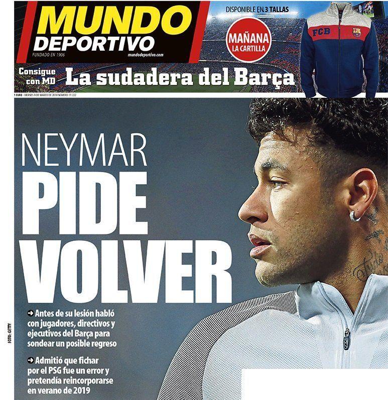 Neymar quiere volver a Barcelona: ¿qué dirán en Francia?