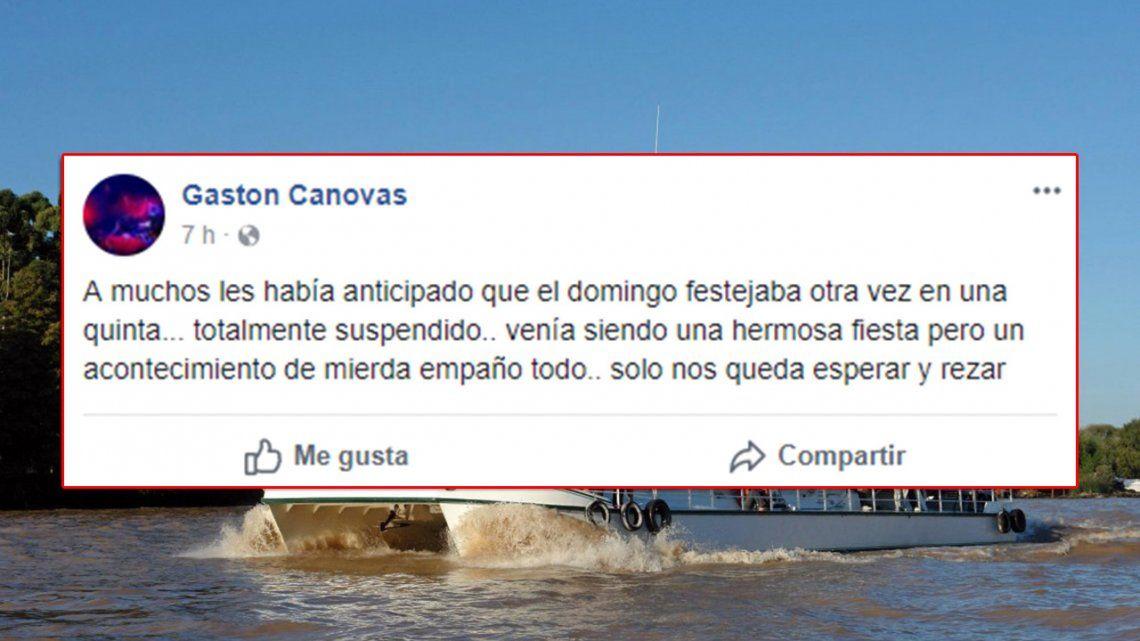 El descargo del organizador de la fiesta en Río Luján: Sólo nos queda rezar