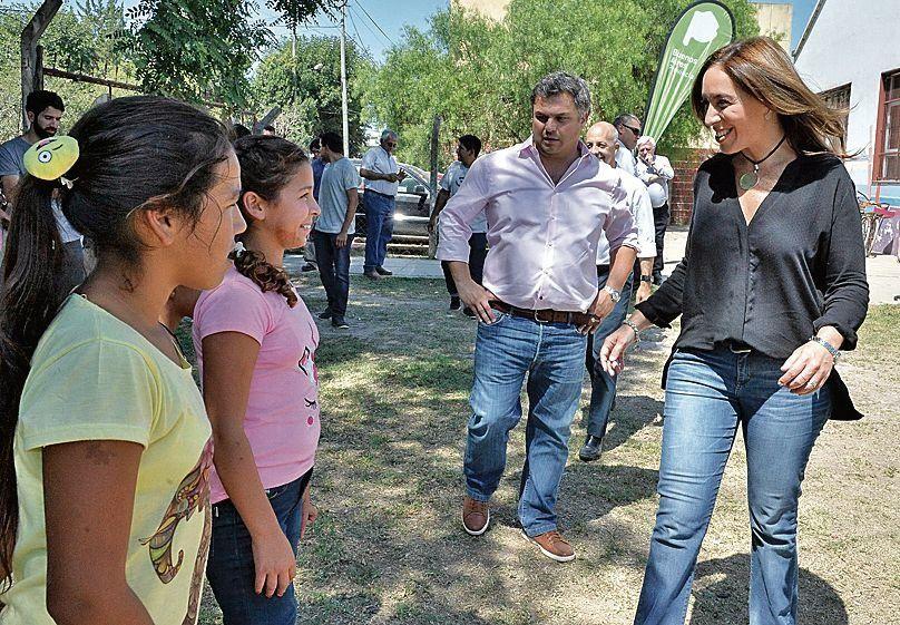 dLa gobernadora recorrió las instalaciones y saludó a los chicos.
