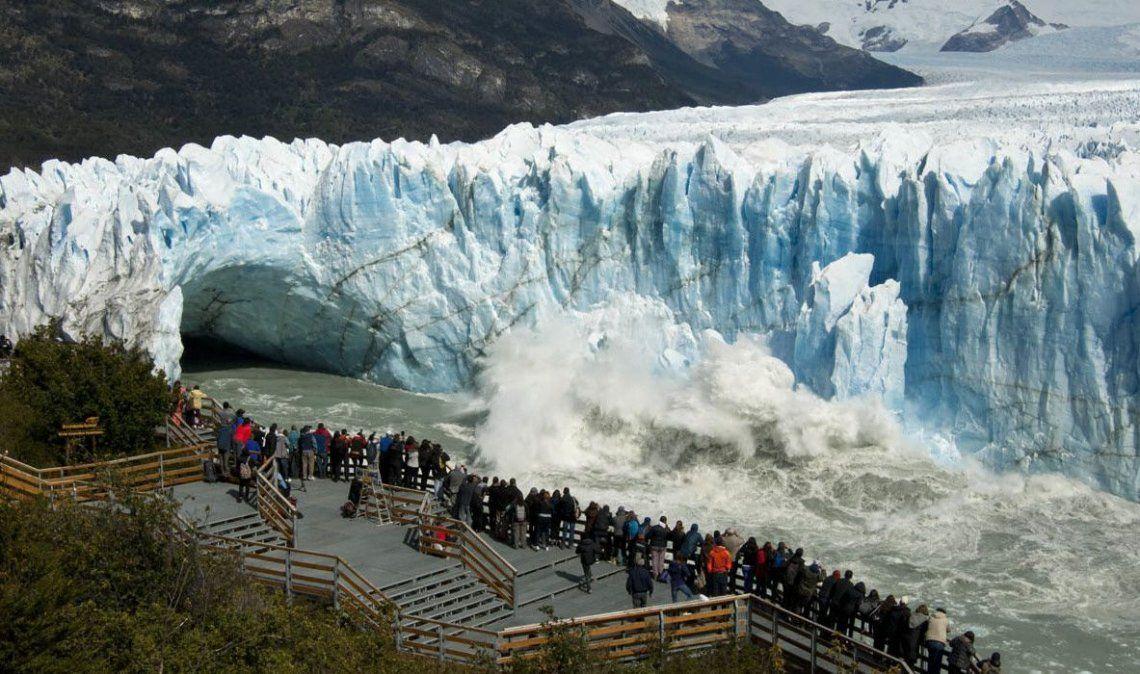 El glaciar Perito Moreno inició la ruptura más grande del siglo