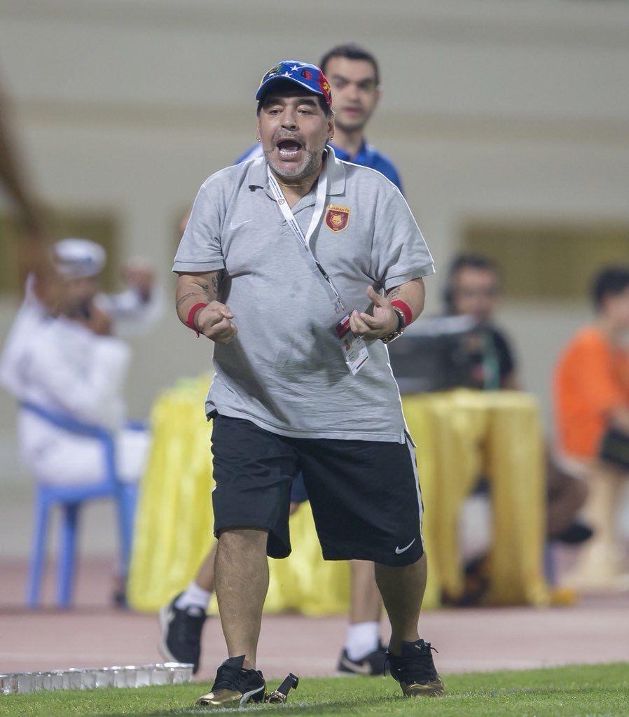 El Fujairah de Maradona ganó un partido clave por el ascenso a Primera