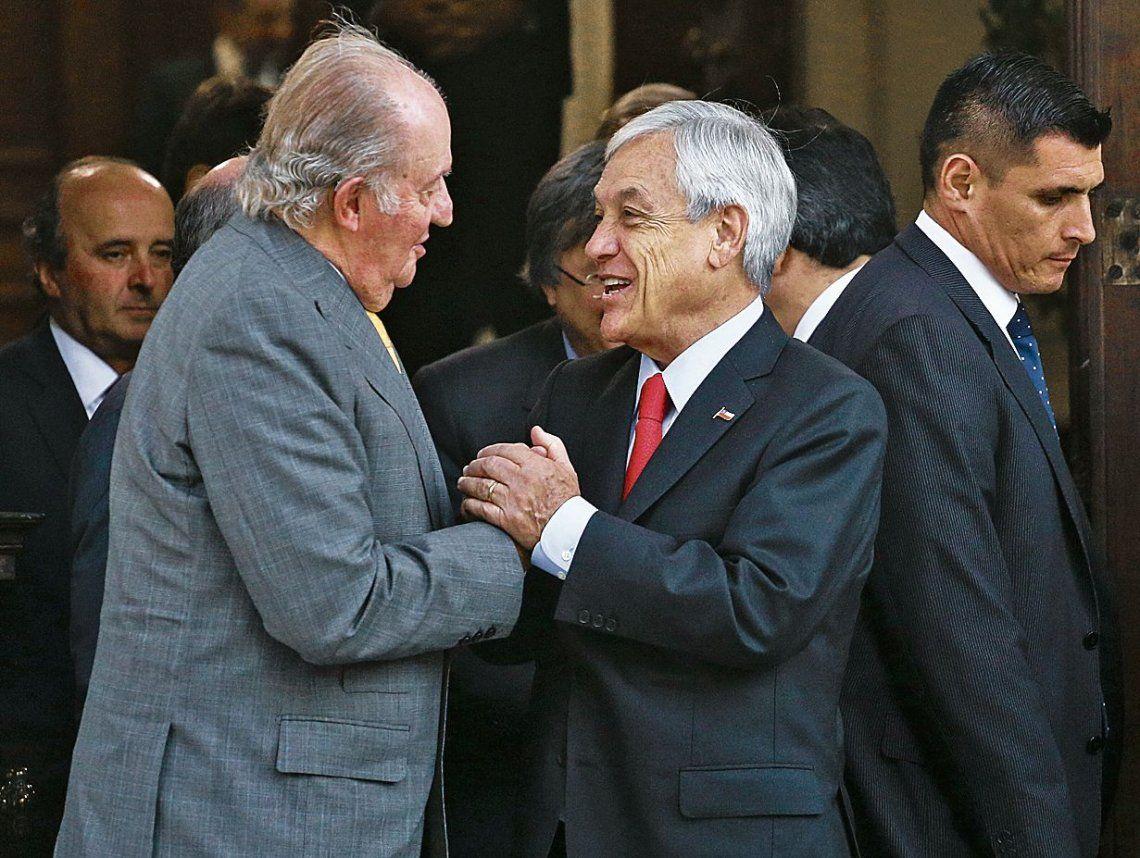 dPiñera se reunió ayer con el rey emérito de España
