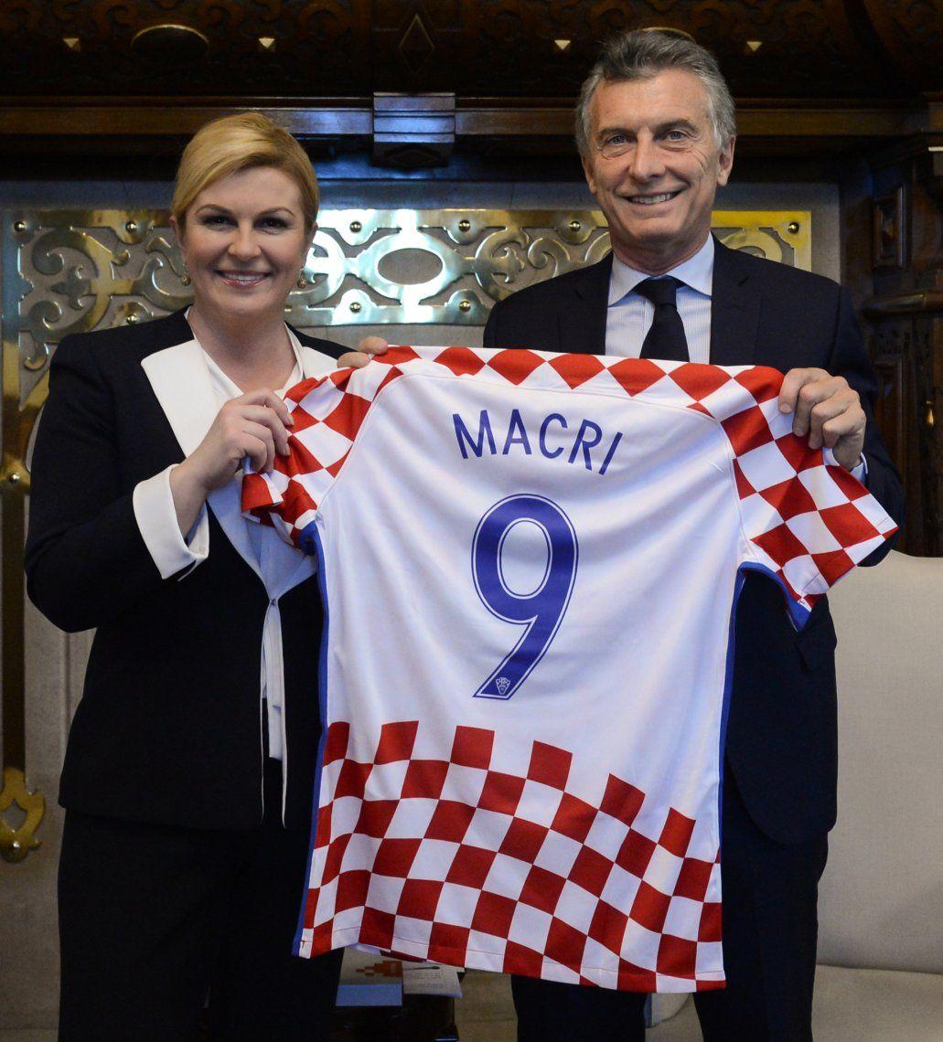 Macri recibió a la presidenta de Croacia: acordaron fortalecer el intercambio