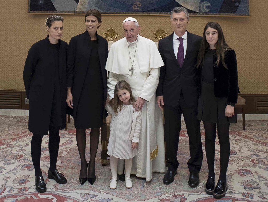 2016 | Junto a la familia del presidente Mauricio Macri.