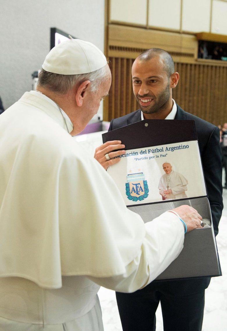 2014 | Francisco con Javier Mascherano.