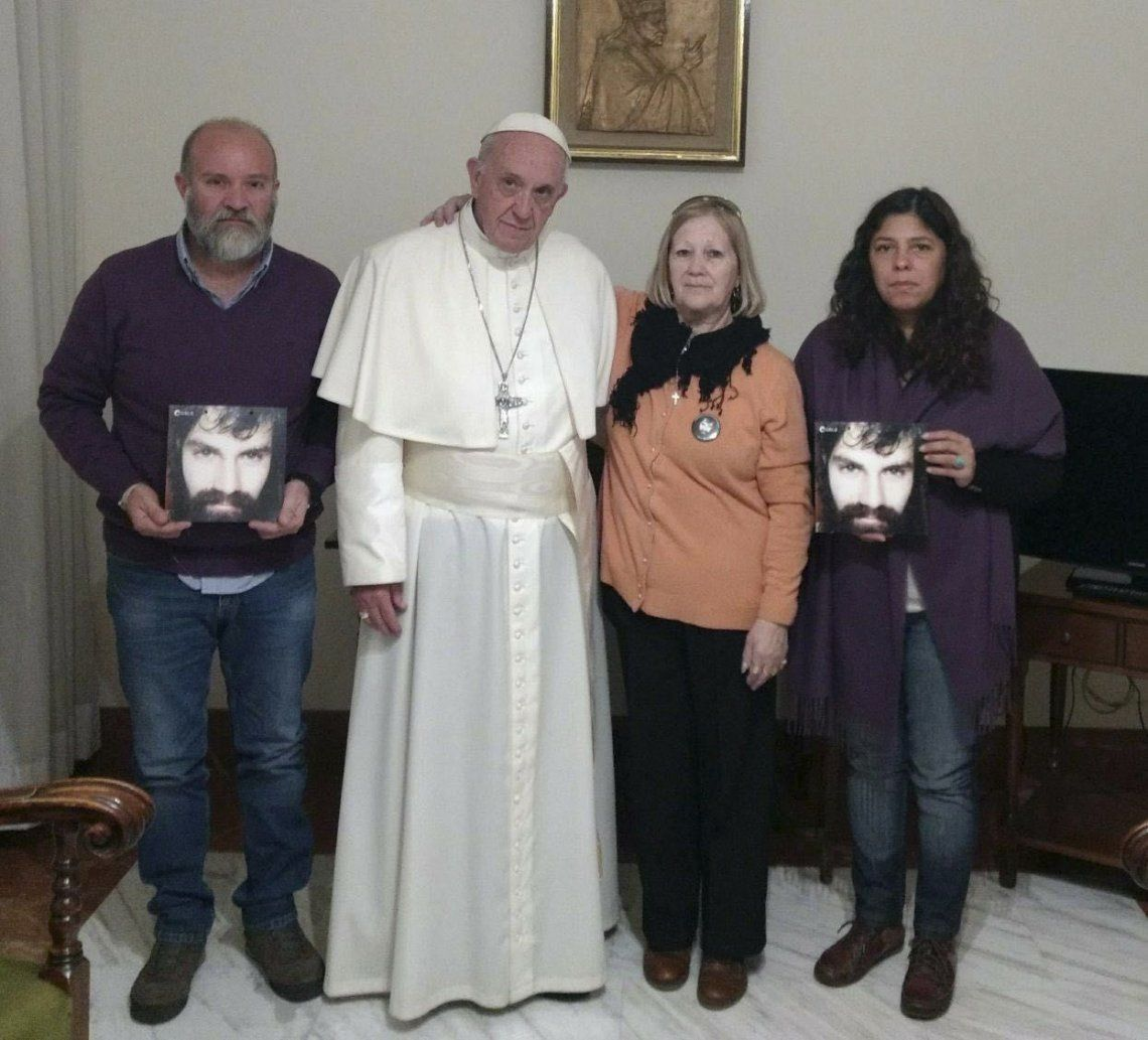2017 | Junto a la familia de Santiago Maldonado.