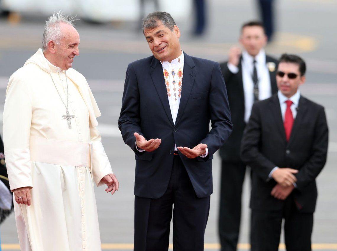 2015 |Rafael Correa y el Papa Francisco.