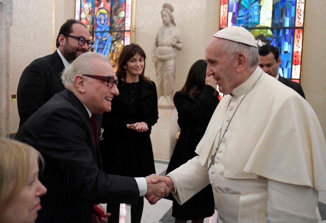 2016 |El Papa Francisco junto al director de cine Martin Scorsese.