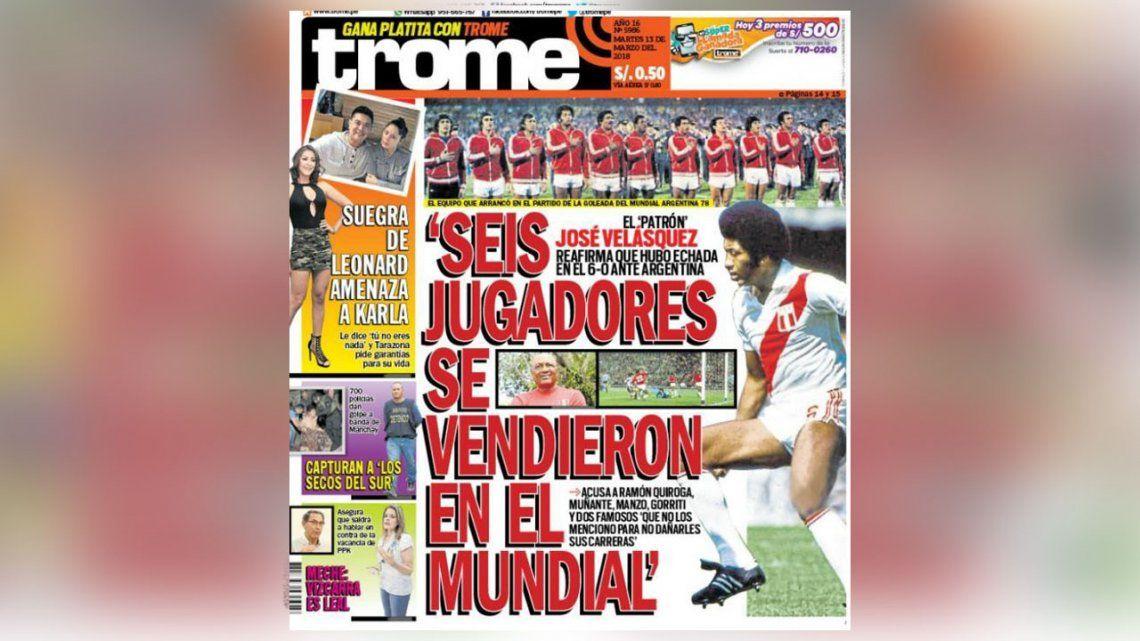 Un jugador peruano acusó a compañeros de venderse frente a Argentina en el Mundial 78