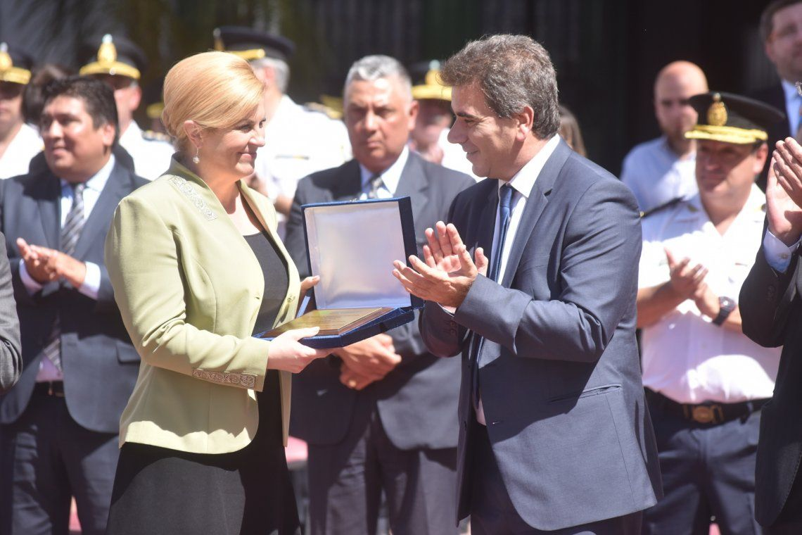 Ritondo recibió a la presidenta de Croacia