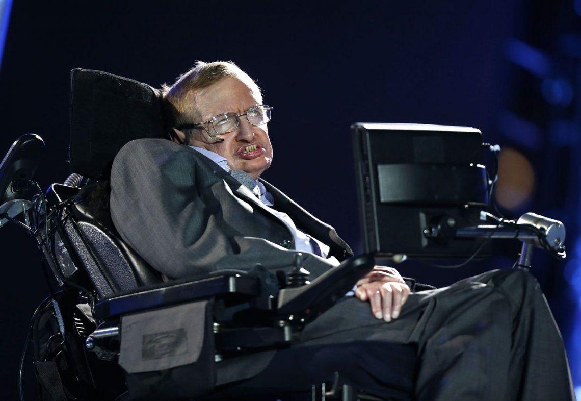 Stephen Hawking en la Ceremonia de Apertura de los Juegos Paralímpicos de 2012 en Londres.