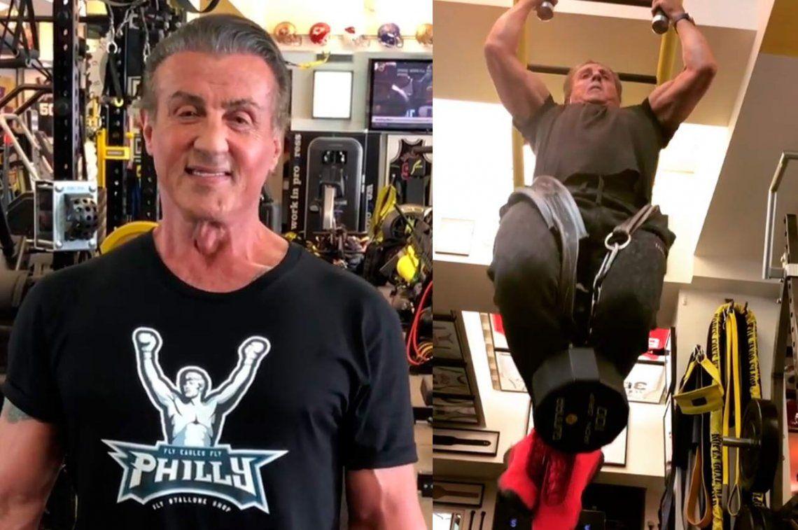 A los 71, Stallone muestra su excelente estado físico en Instagram