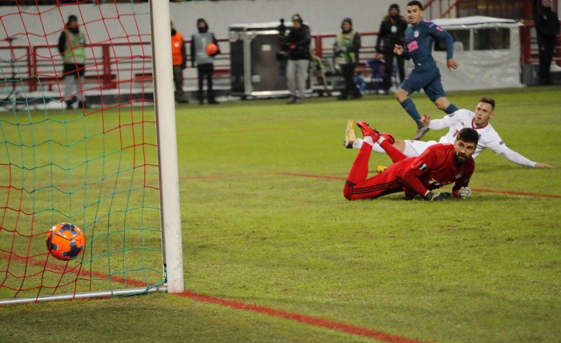 Europa League: el Atlético del Cholo, con gol de Correa, a cuartos