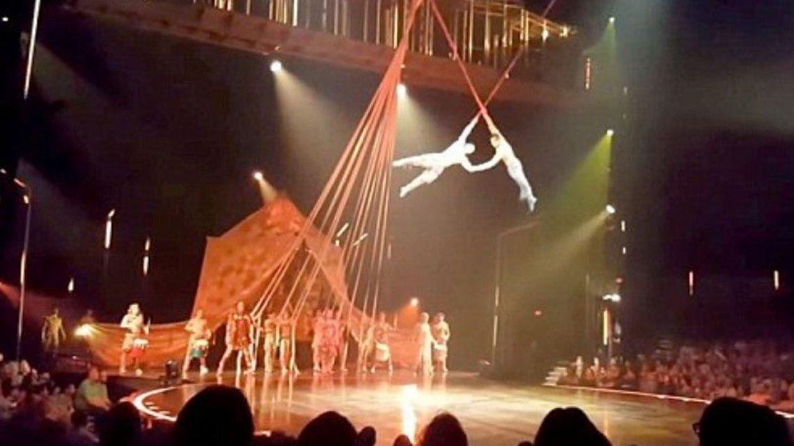 Murió un acróbata del Cirque du Soleil al caer desde 4 metros en pleno show