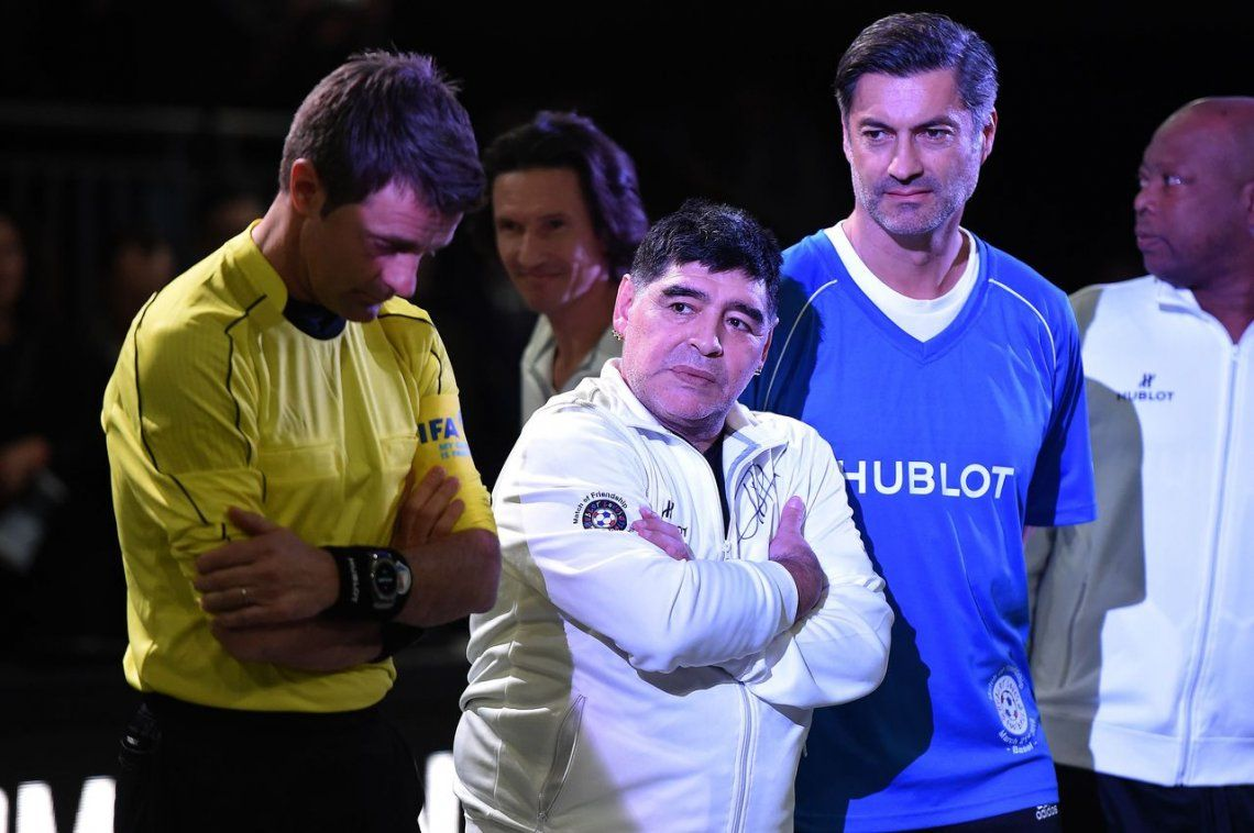 Diego Maradona y Usain Bolt, unidos por el fútbol