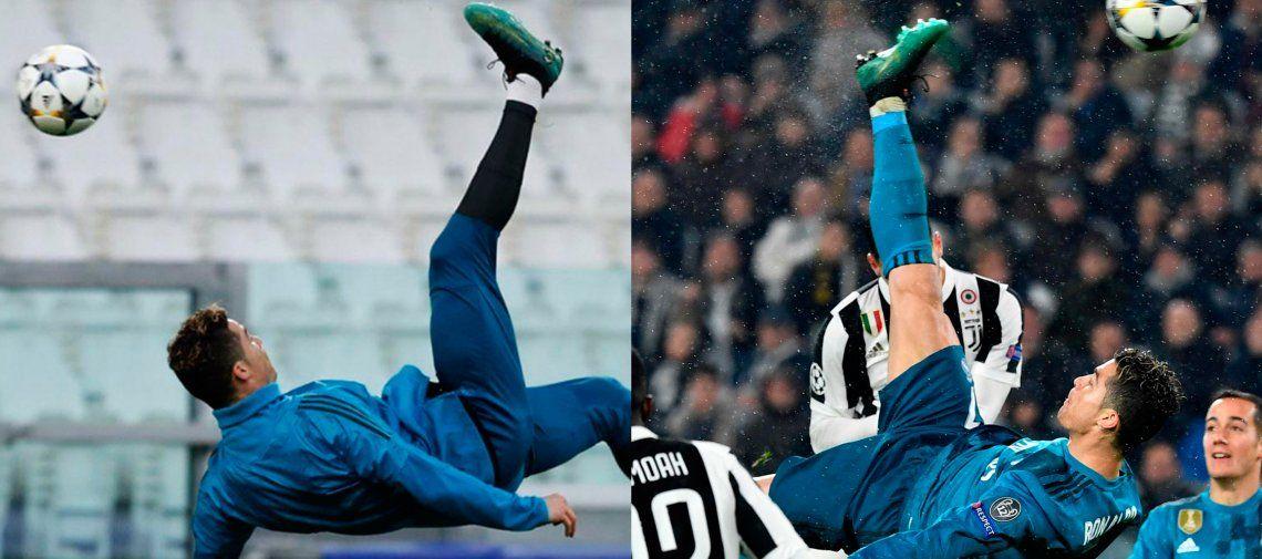 La evolución de la chilena de Cristiano Ronaldo y una lección conocida: nunca te rindas