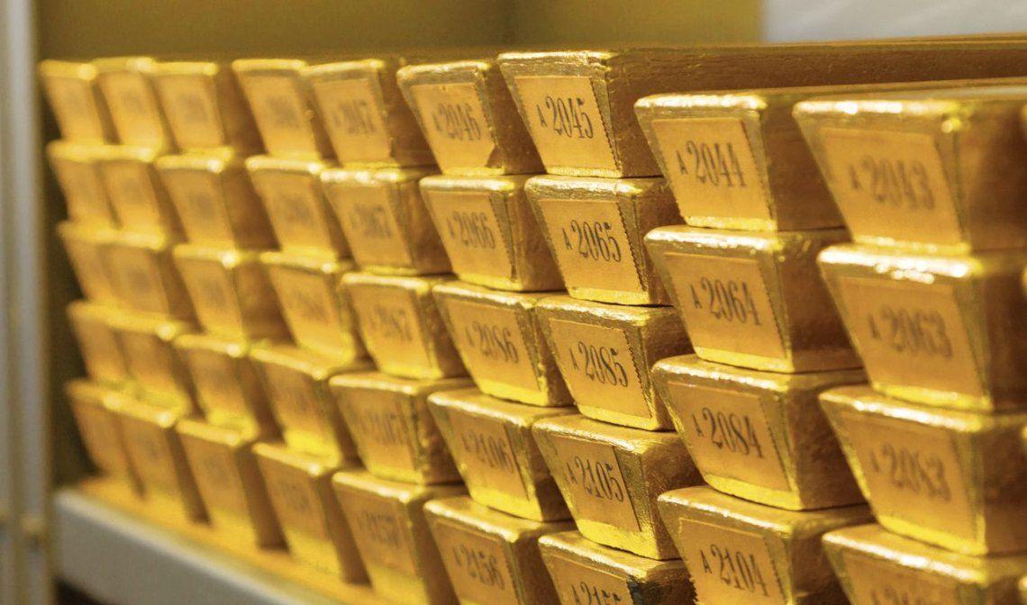 dLingotes de oro