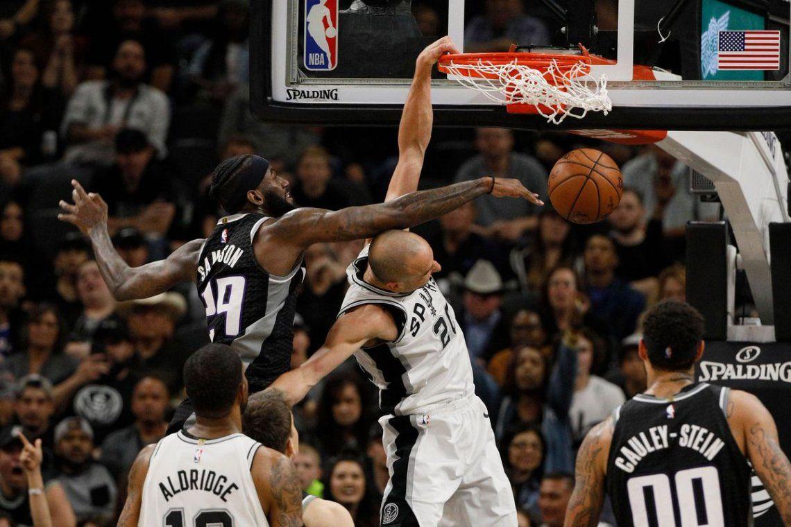 Ginóbili clasifica a los Spurs a los Playoffs y rompe un récord de Michael Jordan