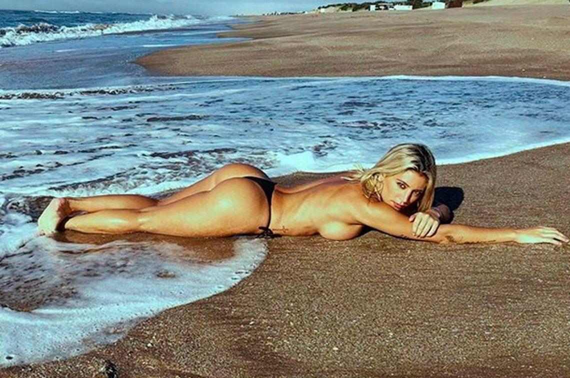 El infartante topless de Sol Pérez en la playa