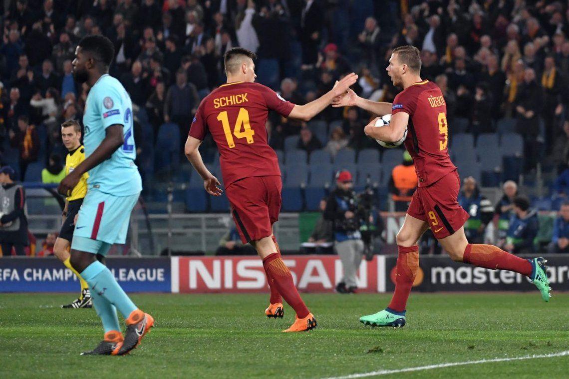 La Roma dio el gran golpe y eliminó al Barcelona en una serie histórica