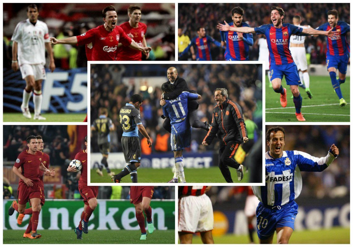 Grandes remontadas históricas en la Champions League