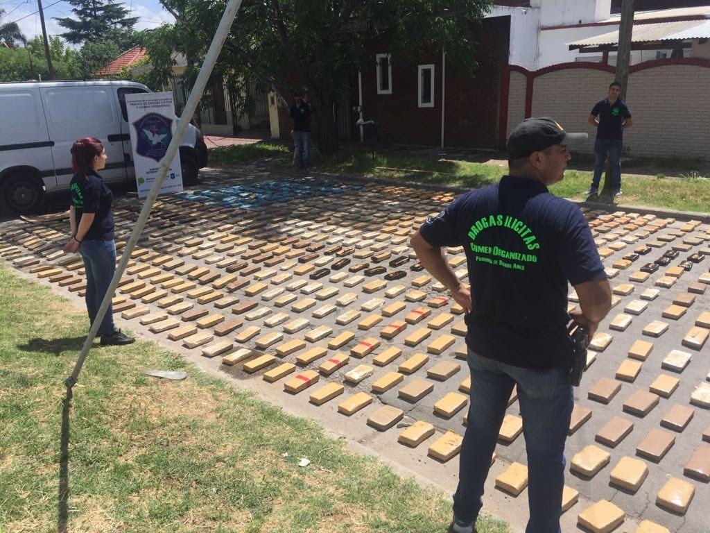 Intervienen la Subdelegación de Pilar, tras la desaparición de 540 kilos de marihuana