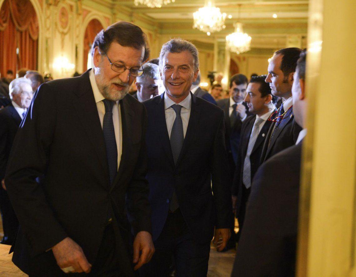 Rajoy elogió a Macri: Los primeros dos años de su gobierno han sido asombrosos