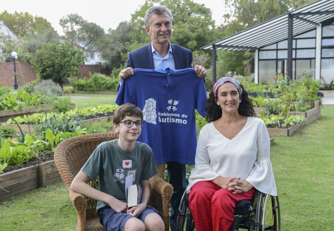 Macri y Michetti recibieron al niño con autismo que propuso ley para combatir el hambre