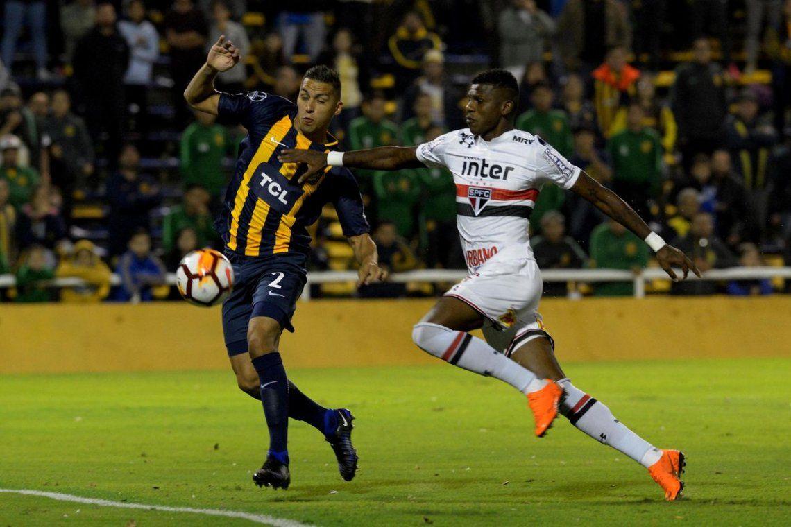 Central no pudo con el San Pablo y empató en la ida en Rosario