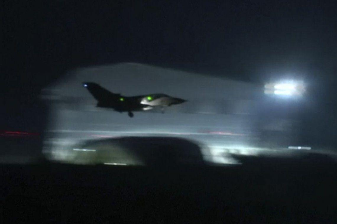 Fotos | Así fue la lluvia de misiles norteamericanos en el cielo de Damasco