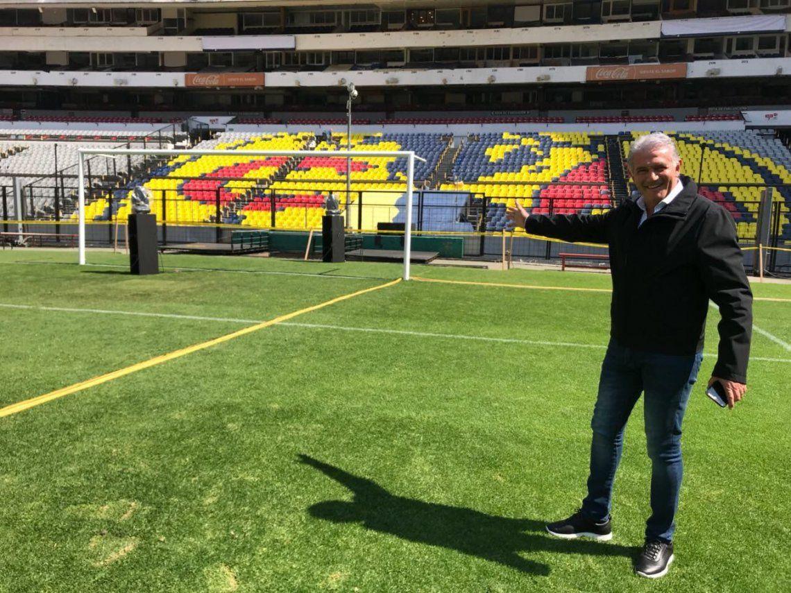 A dos meses de Rusia, Burruchaga volvió al estadio Azteca y recordó el gol de la final ante Alemania de 1986