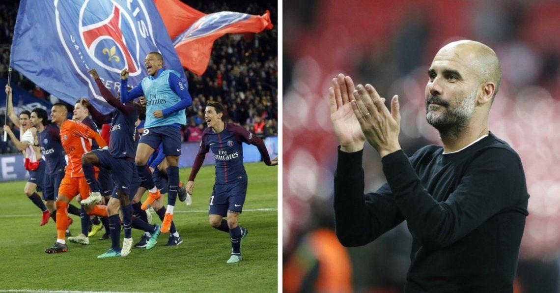 Domingo de campeones: Manchester City, PSG y PSV se coronaron en sus ligas