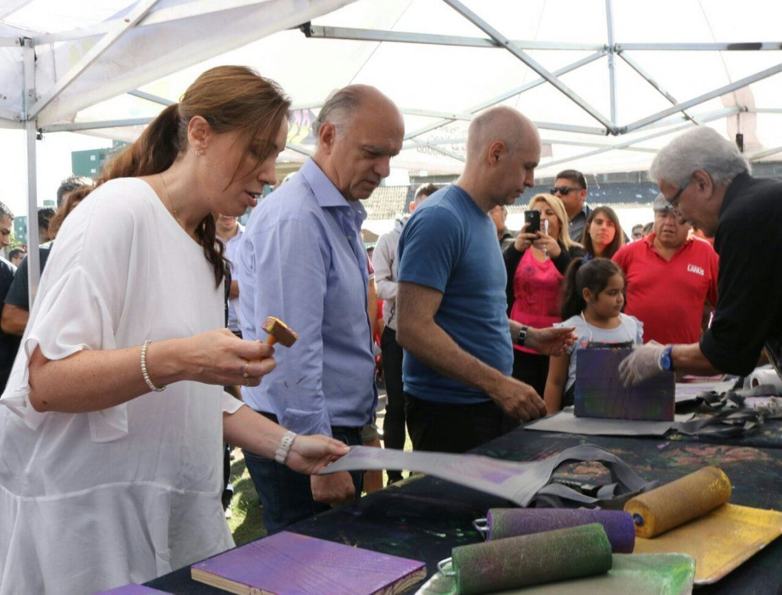 Vidal, Grindetti y Larreta presentaron el programa Arte en Barrios