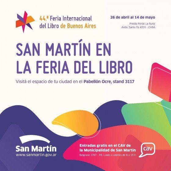 San Martín vuelve a la Feria del Libro con un stand lleno de propuestas
