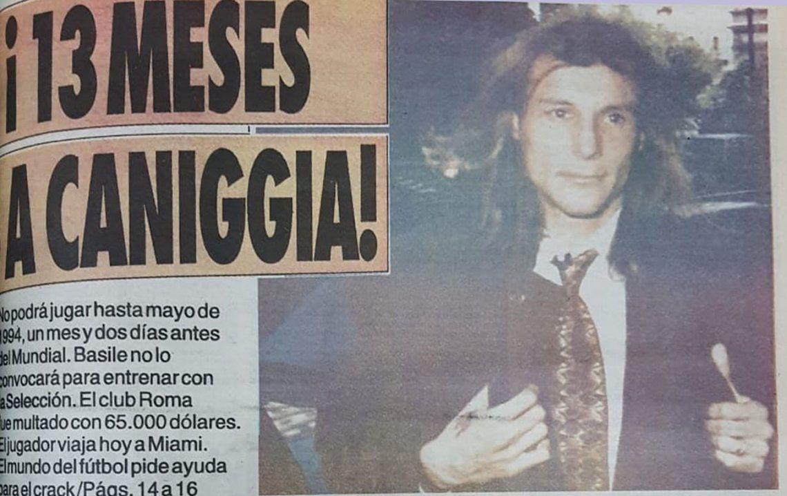A 25 años del cigarrillo de cocaína de Claudio Caniggia