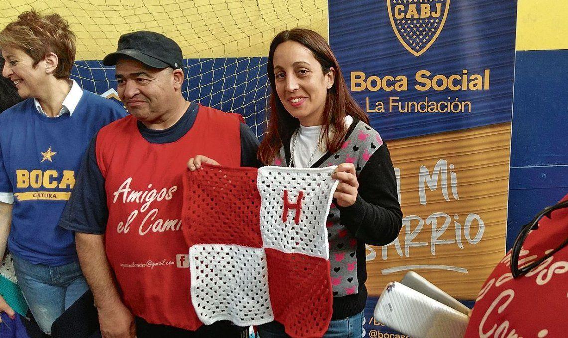 dHuracán estuvo presente en la jornada realizada en Boca Juniors.