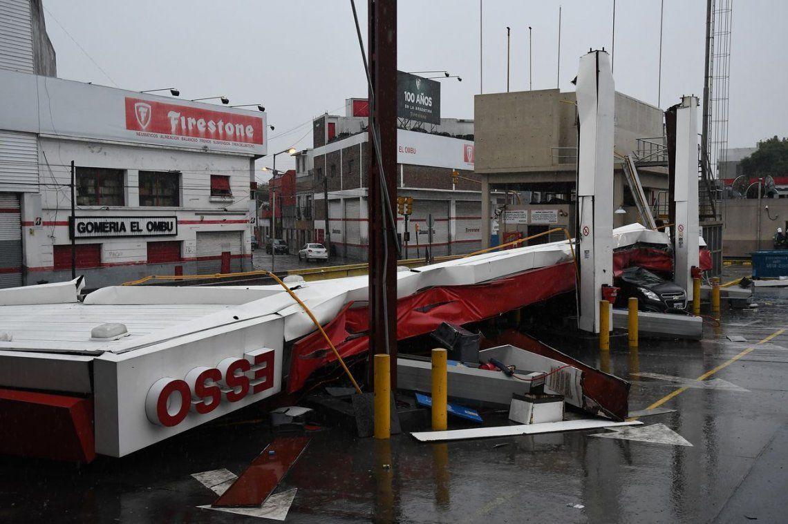 Temporal en la Ciudad y el Conurbano: rayos, lluvia, granizo y viento, en una madrugada de terror