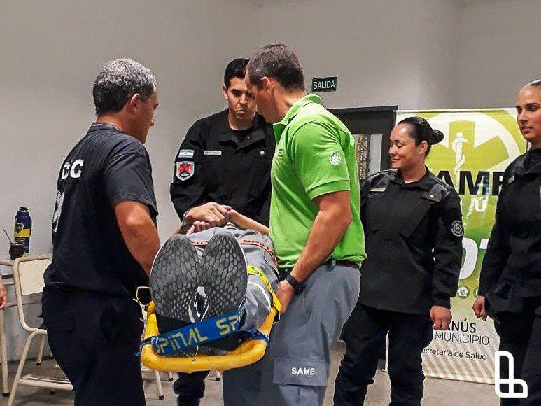 El SAME Lanús capacitó a la Policía Aeroportuaria
