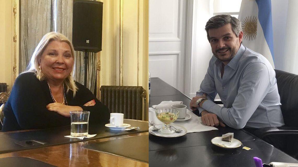 Elisa Carrió y Marcos Peña se reunieron a solas