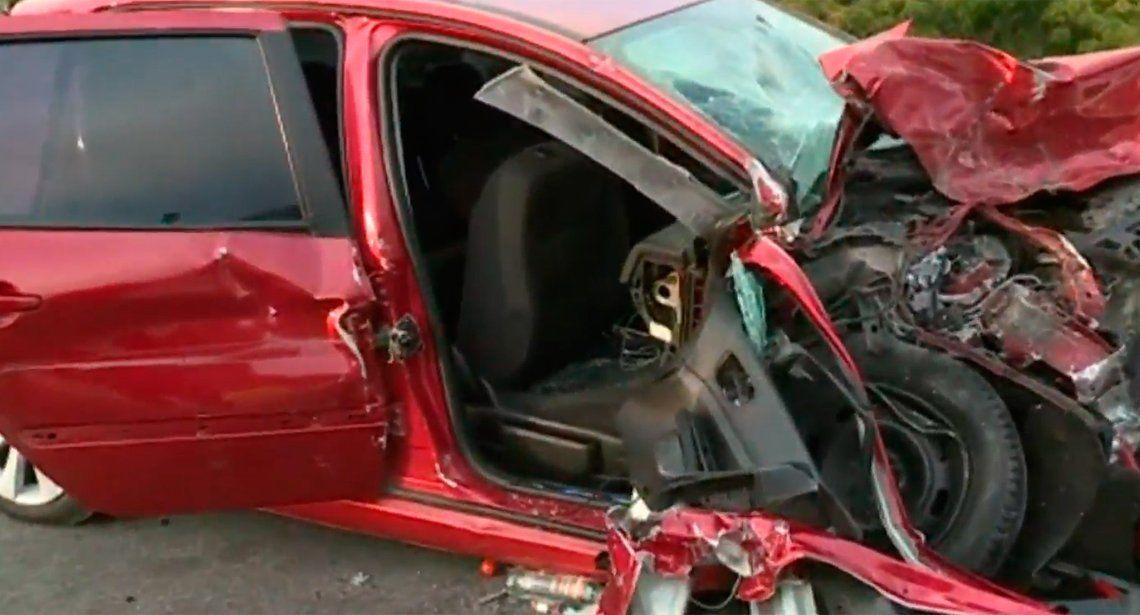 Subió contramano a la Autopista 25 de Mayo: un herido de gravedad