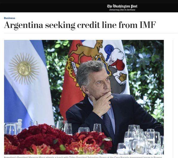 Galería | Así reflejaron los principales medios del mundo el pedido de ayuda al FMI